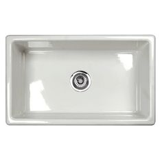 Shaws Classic Modern Single bowl Undermount Fireclay Kitchen sink in WHITE Product # UM3018