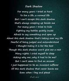 poems about life struggles | Inspired by my continues struggle with having an OCD that I kept from ...