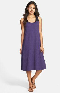 Eileen Fisher Square Neck Hemp & Organic Cotton Dress (Regular & Petite) available at #Nordstrom