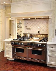 Find more amazing designs on Zillow Digs! Kitchen Stove, New Kitchen, Kitchen Dining, Home Decor Kitchen, Interior Design Kitchen, Kitchen Ideas, Luxury Kitchens, Cool Kitchens, Updated Kitchen
