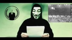 """Hacker group Anonymous says in a video that it will """"hunt"""" Islamic State after its terrorist attacks in Paris, France on Friday Attentat Paris, News Website, Trump Website, Islam, Paris Attack, Charlie Hebdo, Cyber Attack, Total War, Messages"""