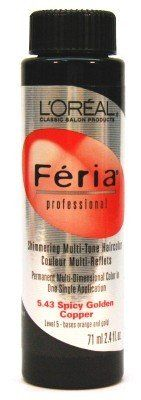 L'Oreal Feria Color - 5.43 2.4 oz. Spicy Golden Copper (Pack of 6) by L'Oreal Paris *** Find out more about the great product at the image link. #haircare