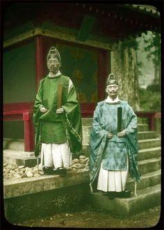 Shinto priests    Lantern slides collection