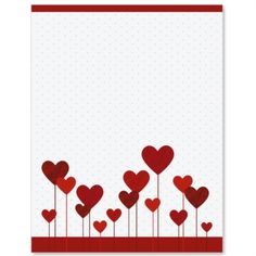 Hearts Abound Border Papers for special Valentine's Day notes! | by PaperDirect