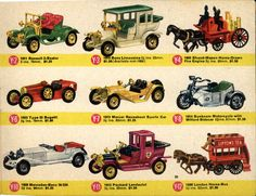 Corgi Toys, Matchbox Cars, Small Letters, Horse Drawn, Fire Engine, Bugatti, My Childhood, Vintage Toys, Diorama