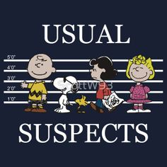 Charlie Brown, Snoopy, Woodstock, Lucy, and Sally