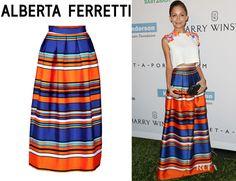 Nicole Richie's Alberta Ferretti Striped Skirt