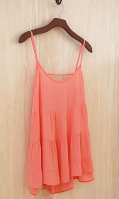 Twirl in the Sun Ruffle Tank, Coral - Conversation Pieces