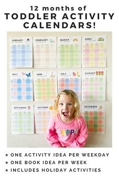Toddler Activity Calendars for Parents - Toddler Approved