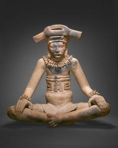 Totonac, Remojadas Veracruz, south-central Gulf Coast, Mexico  Figure of a Seated Leader, A.D. 300/600  Terracotta