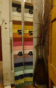Striped Growth Chart Great for Growing Kids by McKennaMadeIt2013