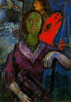 Retrato de Vava (1966), Marc Chagall