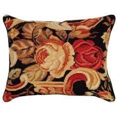 Palazzo Floral Needlepoint Pillow I - Needlepoint Pillows