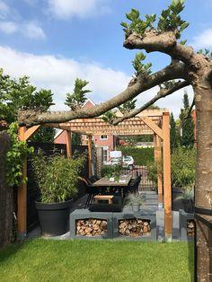 Pergola With Retractable Canopy Info: 4751968914 Patio Diy, Patio Pergola, Pergola Plans, Backyard Patio, Backyard Garden Design, Patio Design, Pergola Pictures, Concrete Patio, Pergola Designs