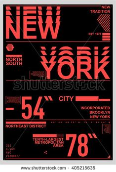 NYC / NEW YORK DISTRICT / Stock Vector Illustration: T-Shirt Design / Print Design - Shutterstock Premier