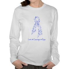 Love Courage Hope Butterfly - Esophageal Cancer Shirt