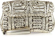 ShopStyle: Anya Hindmarch Rossum woven leather clutch