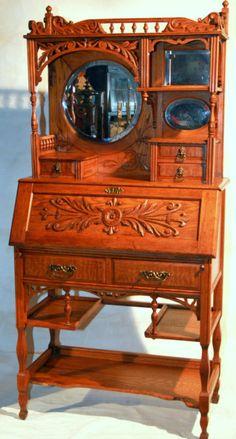"""c1880 ясень викторианской дубовый стол, etagere Курион, твердых & фантазии дерева, 67"""" t, v скотнице"""