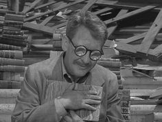 ๏̯͡๏   Time Enough at Last -Twilight Zone   ๏̯͡๏  such a sad episode. finally time to read, but can't SEE to read. so typical.