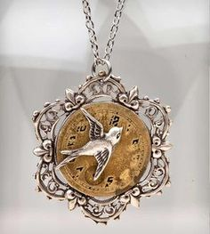 Time Flies Necklace.