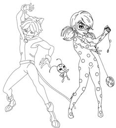Do you love Miraculous Tales of Ladybug and Cat Noir - Then this coloring page is for you. This coloring page collection for kids and toddlers is filled Bug Coloring Pages, Ladybug Coloring Page, Cat Coloring Page, Disney Coloring Pages, Free Printable Coloring Pages, Coloring Pages For Kids, Coloring Books, Miraculous Ladybug, Cumpleaños Lady Bug