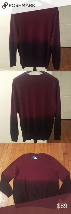 New Vince Camuto Wine Ombre Sweater Beautiful and lughweight Rayon/Nylon sweater. Very rich color and the pictures dont do justice.  Will update photos once I get more sun.😊 Vince Camuto Sweaters Crewneck