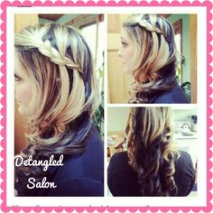 #waterfall #braid #highlights #curls by #stylist @Kristin Foreman