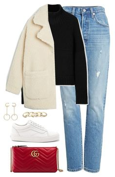 """Untitled #4609"" by magsmccray on Polyvore featuring Levi's, Burberry, Monki, Vans, Gucci, Chloé and GUESS"