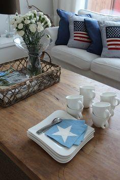 Ready for coffee. Home, new england style, stars, Lexington, Riviera Maison.