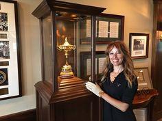 Fatiha @Tourmiss - Genius of Golf at #tigerwood #foundation golf event wearing #danyfaygolfcouture #teetime #shirt.  #tourmiss #FatihaBetscher #Fatiha #geniusofgolf #golfer #danyfay #golfcouture #golfetiquette #golflady #golfforher #ambassador #PGA #tournament #golf #event