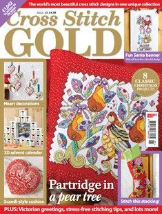 Cross Stitch Gold, September 2013, issue 105.