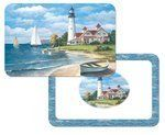 Lighthouse Reversible Washable Vinyl Foam Placemats Set of Four by SBF Gifts. $18.95