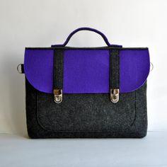 13 Felt laptop bag 13 MacBook AIR urban bag with a by kmBaggies, $45.00