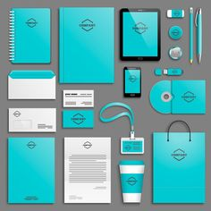 Illustration of Corporate identity template set. Business stationery mock-up with icon. vector art, clipart and stock vectors. Corporate Identity Design, Business Branding, Business Card Design, Branding Design, Logo Design, Business Company, Logo Branding, Brand Identity, Design Design