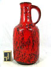 Red glazed 60´s Ursula Beyrau design Gräflich Ortenburg Keramik pottery vase 617