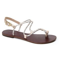 Jolie in Gold & Silver Leather Sandals, Silver, Gold, Journey, Shoes, Women, Fashion, Moda, Zapatos