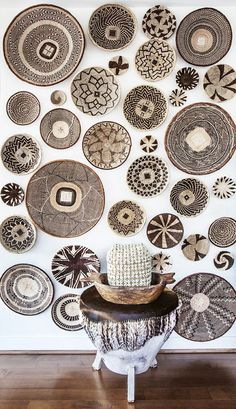 basket wall...South African Baskets...above my bed