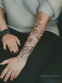 Cute Tattoos For Women, Flower Tattoos, Sleeve Tattoos, Tatting, Piercings, Death, Instagram, Flowers, Stuff Stuff