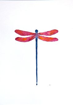 Giclee print. Dragonfly - watercolor painting. Art illustration. Painting of a dragonfly in pink, red and blue. Wall decor. Wall hanging. Home wall art.  colors: red, pink, purple, orange, dark blue  Watercolor illustration is signed, titled and dated on reverse. Dimensions: -paper size 5 x 7 -paper size 8 x 10 -paper size 11 x 14 -paper size 16 x 20  - paper size A5 - 14,8 cm x 21 cm (5,83 x 8,27) - paper size A4 - 21 x 29,7 cm (8,27 x 11,69), - paper size A3 - 29,7cm x 42 cm (11,69 x…