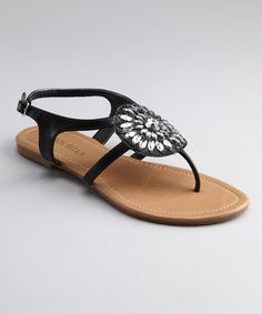 Take a look at this Black Saber 16 Sandal by RCK Bella on #zulily today!