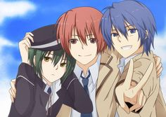 Hideki Hinata, Otonashi Yuzuru, Naoi Ayato from Angel Beats! Angel Beats, Manga Anime, Sad Anime, Kawaii Anime, Girls Anime, Cute Anime Guys, Awesome Anime, Hinata, Anime Fairy