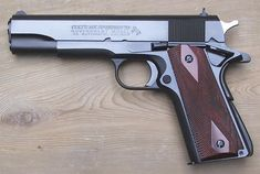 Colt .45 Automatic Mark IV Series 70 Government Model with a blued finish