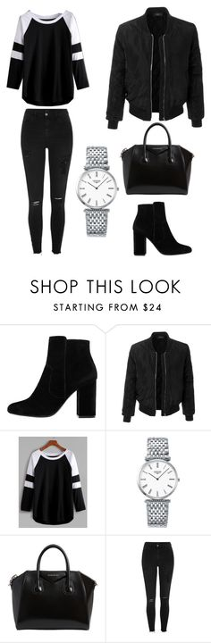 """""""Untitled #37"""" by itsmexo ❤ liked on Polyvore featuring MANGO, LE3NO, Longines, Givenchy and River Island"""