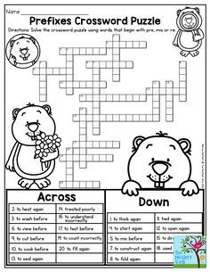 Prefixes Crossword Puzzle- TONS of printables to keep children in THIRD GRADE engaged and having FUN!