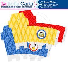 Snow White Personalised favour boxes, Snow White Birthday, Printable Party, DIY Party, Girls Printable Party.