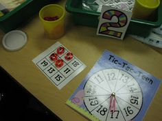 Math:  Number Identification.  0-20.  Tic-Tac-Teen math game.