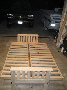 how to make a fold out sofa futon bed frame   pesquisa google diy  2x4 futon   ehow     carova beach nc   pinterest   futon      rh   pinterest