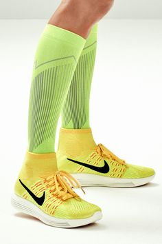 SOCK-LIKE FIT // The Nike LunarEpic Flyknit Women's Running Shoe has a near-seamless, ankle-high design that fits like a second skin to minimize distractions on your run.