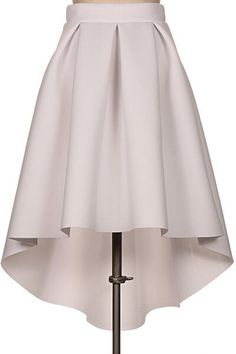 Pin by Girl Daily Fashion on Fashion Dresses in 2019 Box Pleat Skirt, Pleated Skirt, Dress Skirt, Clothing Patterns, Dress Patterns, Hi Low Skirts, Scuba Fabric, Spandex, Mode Inspiration