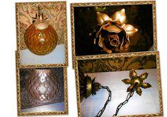 lampadario lampione vintage pallone vetro ambrato x ingresso interno esterno